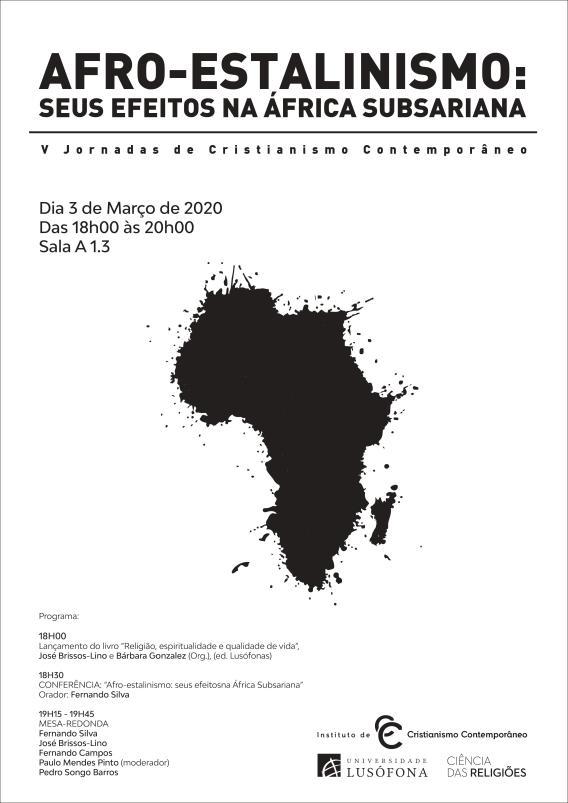 cartaz afro-estalinismo